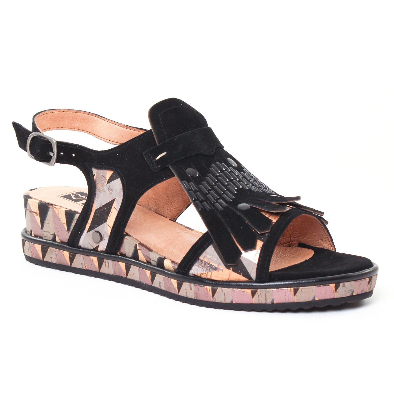 mamzelle sadika noir sandale compens es multicolore printemps t chez trois par 3. Black Bedroom Furniture Sets. Home Design Ideas