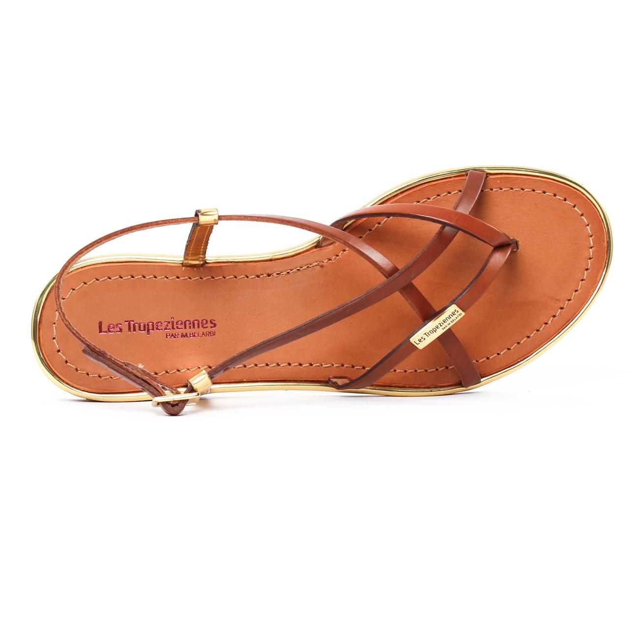 Les Tropeziennes Monaco Tan Or | sandales marron doré