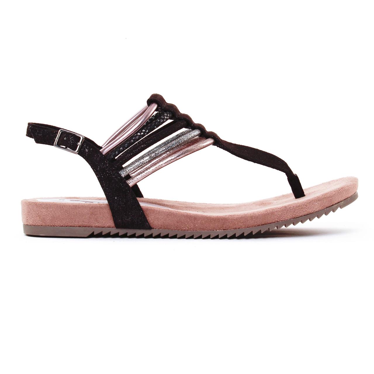 Tamaris 28105 Black | sandales noir argent printemps été
