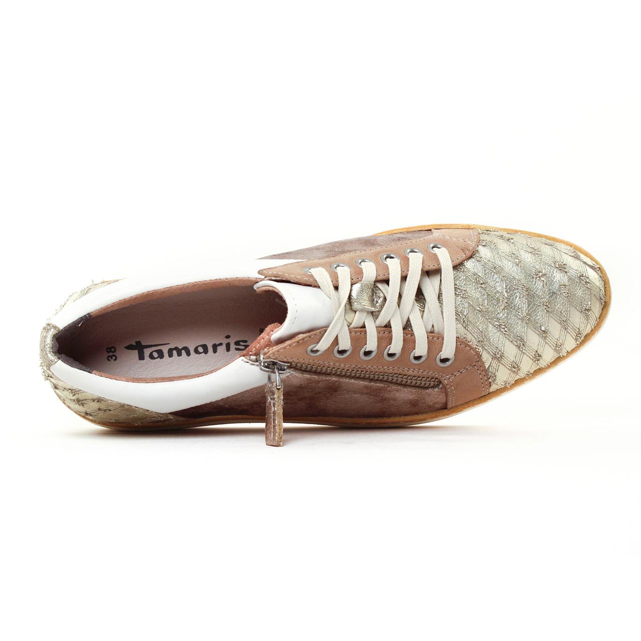 Tamaris 23712 Lt Gold   tennis doré printemps été chez TROIS
