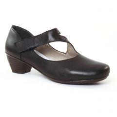 Chaussures femme été 2017 - trotteurs-babies rieker noir