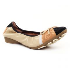 Chaussures femme été 2017 - ballerines Mamzelle beige noir