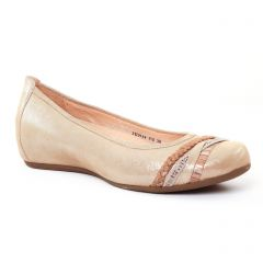 ballerines-talons-compenses beige doré: même style de chaussures en ligne pour femmes que les Marco Tozzi