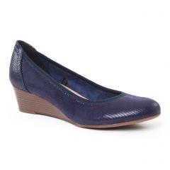 escarpins-talons-compenses bleu: même style de chaussures en ligne pour femmes que les Tamaris