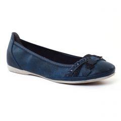 Chaussures femme été 2017 - ballerines confort marco tozzi bleu marine