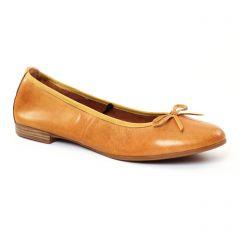Chaussures femme été 2017 - ballerines confort tamaris marron jaune
