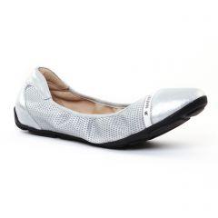 Chaussures femme été 2017 - ballerines JB Martin gris argent blanc