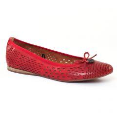 ballerines-confort rouge: même style de chaussures en ligne pour femmes que les Tamaris