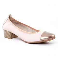 ballerines-talon rose doré: même style de chaussures en ligne pour femmes que les Maria Jaén