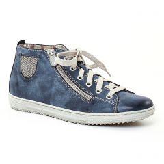 Chaussures femme été 2017 - baskets mode rieker bleu