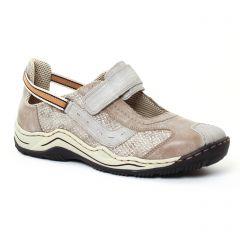 baskets-mode gris taupe: même style de chaussures en ligne pour femmes que les Rieker