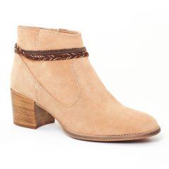 boots beige marron: même style de chaussures en ligne pour femmes que les Rieker