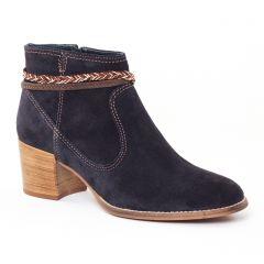 boots bleu marron: même style de chaussures en ligne pour femmes que les Tamaris