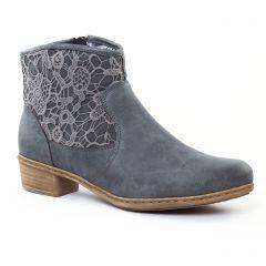 boots bleu: même style de chaussures en ligne pour femmes que les Rieker