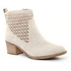 boots-ete beige: même style de chaussures en ligne pour femmes que les Tamaris
