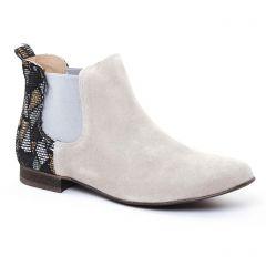 Chaussures femme été 2017 - boots élastiquées Axell beige