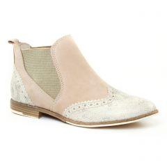 Chaussures femme été 2017 - boots élastiquées marco tozzi beige
