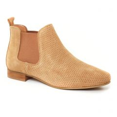 Chaussures femme été 2017 - boots élastiquées Scarlatine beige