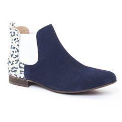 boots-chelsea bleu marine: même style de chaussures en ligne pour femmes que les Rieker