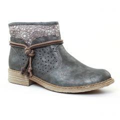 boots gris bleu: même style de chaussures en ligne pour femmes que les Rieker