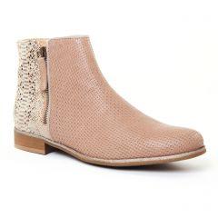 boots marron doré: même style de chaussures en ligne pour femmes que les Scarlatine