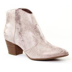 Chaussures femme été 2017 - boots tamaris rose gris argent
