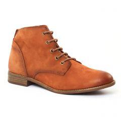 Chaussures femme été 2017 - bottines à lacets tamaris marron
