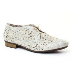 derbys beige argent: même style de chaussures en ligne pour femmes que les Rieker