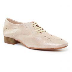 derbys beige doré: même style de chaussures en ligne pour femmes que les Mtng
