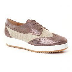 derbys-talons-compenses beige doré: même style de chaussures en ligne pour femmes que les Scarlatine