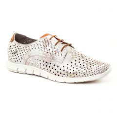 Mamzelle Quana Peche : chaussures dans la même tendance femme (derbys blanc-rose) et disponibles à la vente en ligne