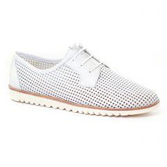 derbys blanc: même style de chaussures en ligne pour femmes que les Scarlatine
