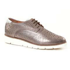 Mamzelle Madina Etain : chaussures dans la même tendance femme (derbys-talons-compenses gris argent) et disponibles à la vente en ligne