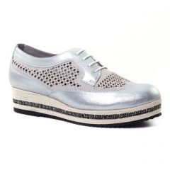 derbys-talons-compenses gris gris argent: même style de chaussures en ligne pour femmes que les Marco Tozzi