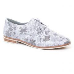 derbys gris blanc: même style de chaussures en ligne pour femmes que les Tamaris