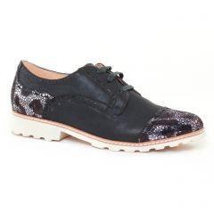 Fugitive Willer Noir Metal : chaussures dans la même tendance femme (derbys noir gris argent) et disponibles à la vente en ligne