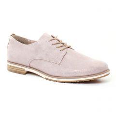 derbys rose beige doré: même style de chaussures en ligne pour femmes que les Scarlatine