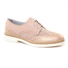 Chaussures femme été 2017 - derbys tamaris rose