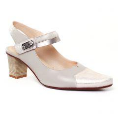 Chaussures femme été 2017 - escarpins trotteur Dorking beige doré