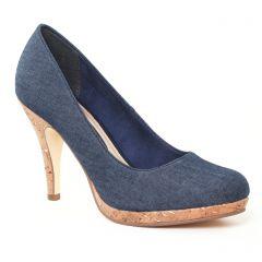 escarpins bleu jean: même style de chaussures en ligne pour femmes que les Marco Tozzi