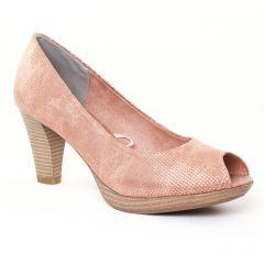 escarpins-bout-ouvert rose doré: même style de chaussures en ligne pour femmes que les Tamaris