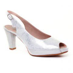 Chaussures femme été 2017 - escarpins Dorking gris argent