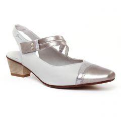 Chaussures femme été 2017 - escarpins trotteur Dorking gris argent
