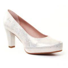 escarpins gris beige doré: même style de chaussures en ligne pour femmes que les Tamaris
