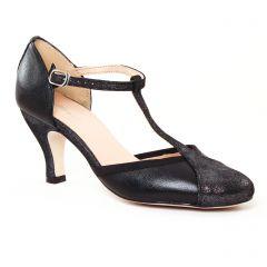 escarpins-salome noir gris argent: même style de chaussures en ligne pour femmes que les Tamaris