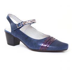 Chaussures femme été 2017 - escarpins trotteur Dorking bleu marine