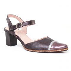 Chaussures femme été 2017 - escarpins trotteur Dorking noir argent