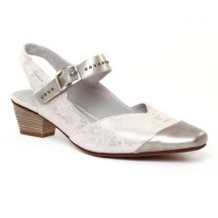 Chaussures femme été 2017 - escarpins trotteur Dorking gris clair