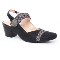 trotteurs-babies noir gris argent: même style de chaussures en ligne pour femmes que les Rieker