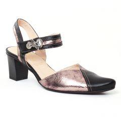 nu-pieds-trotteurs noir doré: même style de chaussures en ligne pour femmes que les Fugitive